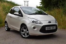 Ford Ka 1.2 Titanium Pearl White Metallic £30 Tax 42k miles **£110 per month**
