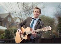 Professional Singer and acoustic guitarist available for wedding or function!