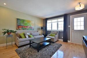Superbe maison à louer avec 3 chambres et cours boisée