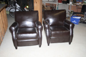 Pair of reclining chairs in good condition