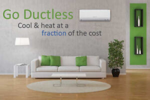 SAVE 40% on HYDRO BILLS with a DUCTLESS HEAT/COOL UNIT