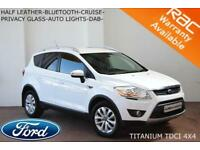 2012 Ford Kuga 2.0TDCi (163ps) 4x4 Titanium-HALF LEATHER-PRIVACY GLASS-BLUETOOTH