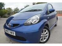 TOYOTA AYGO BLUE 1.0 VVTI 3 DOOR*FULL MOT*£20 TAX*IDEAL FIRST CAR*HISTORY*