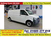 2012 - 62 - VOLKSWAGEN TRANSPORTER T30 2.0TDI 102PS LWB VAN (GUIDE PRICE)