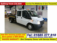 2014 - 63 - FORD TRANSIT T350 100PS RWD DOUBLE CAB TIPPER (GUIDE PRICE)