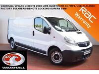 2014 Vauxhall Vivaro 2900 2.0CDTI-LONG WHEEL BASE-BLUETOOTH-PLYLINED-BULKHEAD