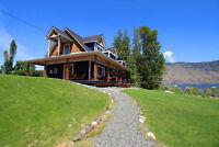 Semi-Waterfront Home on Kamloops Lake