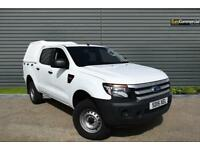 2015 Ford Ranger 2.2 TDCi XL Double Cab Pickup 4x4 4dr (EU5) Diesel white Manual