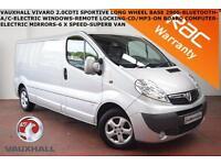 2014 Vauxhall Vivaro 2.0CDTi (115ps) (EUV)Sportive 2900 LWB-BLUETOOTH-P. SENSORS