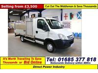 2006 - 56 - IVECO DAILY 50C15 5.2TON 3.0D DROPSIDE C/W TAIL LIFT & SWING LIFT