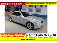 2000 - X - MERCEDES S CLASS 320 3.2CDI AUTO 4 DOOR SALOON (GUIDE PRICE)