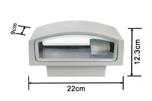 Applique-a-parete-per-esterno-IP65-attacco-E27-luce-lampada-da-muro-ES29G-grigio