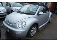 2004 Volkswagen Beetle 1.6 CONVERTIBLE LOW MILEAGE SERVICE HISTORY 1 YEARS MOT