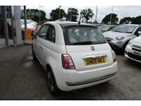 2015 Fiat 500 1.2 Cult (s/s) 3dr Petrol white Manual