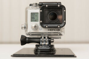 GoPro Hero 3 Black Edition with extra batteries and accessories