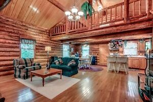 Beautiful log home for sale, 0.99 Acres, hidden from the road