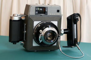 For Sale Vintage Mamiya Press Camera with lens and attachments