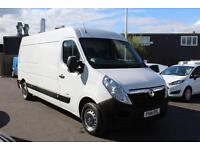 Vauxhall Movano F3500 LWB High Roof 2.3 FWD in White + Roof Beacon - Onsite