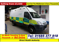 2008 - 58 - IVECO DAILY 65C18 LWB HIGH ROOF SUPPORT VEHICLE (GUIDE PRICE)