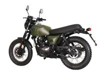 BRIXTON BX 125 X - RETRO SCRAMBLER MOTORCYCLE - LEANER LEGAL - EURO 4