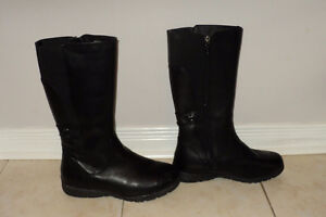 Women's Black Leather Boots - Abbey Black Amazone by Blondo