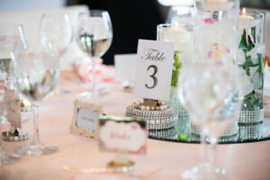 Centerpiece table number holders, 25$ for 5, handmade!