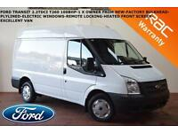 Ford Transit 100BHP T260 FWD-HEATED FRONT SCREEN-EW-PLYLINED-BULKHEAD-1 X OWNER