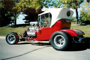 MODIFIED 1927 FORD STEEL BODIED ROADSTER