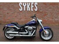 2020 Harley-Davidson FLFBS Softail Fat Boy 114 in Zephyr Blue and Black
