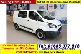 2014 - 64 - FORD TRANSIT CUSTOM 290 ECO-TECH 2.2TDCI 100PS SWB 6 SEAT CREW VAN