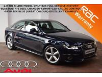 2009 Audi A4 2.0TDI S Line-ONLY 82K FULL SERVICE HISTORY-CRUISE-B/TOOTH-