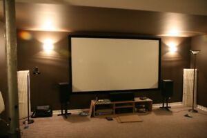 "LED HOME THEATRE PACKAGE-PROJECTOR+120"" SCREEN COMBO$AVE 60% !!!"