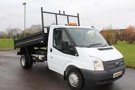 Ford Transit 2.2TDCi TIPPER Low Miles100PS ( RWD ) 350L DRW 13 Reg £12495 + VAT