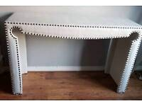 Shabby Chic Faux Leather White Desk Dressing Table