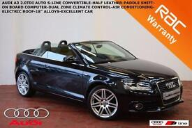 2009 Audi A3 Cabriolet 2.0TDI AUTOMATIC S Line-PADDLE SHIFT-HALF LEATHER-CLIMATE