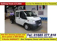 2011 - 11 - FORD TRANSIT T350 2.4TDCI 100PS CREW CAB TIPPER (GUIDE PRICE)