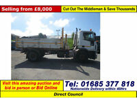 2008 IVECO EURO CARGO 180E25 4X2 18TON TIPPER C/W PLOUGH ATTACHMENT GUIDE PRICE