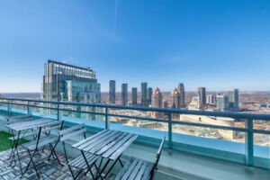 Square one 2bed 2bath 1200sqft luxury penthouse condo for rent