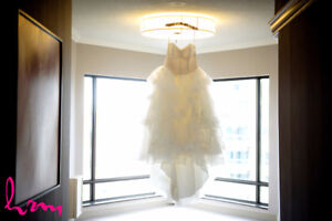 White by Vera Wang Strapless Tulle Dress for sale