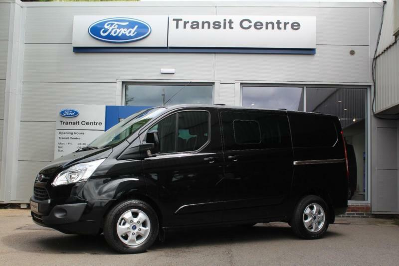 new ford transit custom 2 0tdci 170ps 270 l1h1 limited in black sat nav cam in hinckley. Black Bedroom Furniture Sets. Home Design Ideas