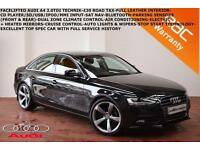 2012 Audi A4 2.0TDI (136ps) Technik LEATHER-SAT NAV-B.TOOTH.P. SENSORS-CRUISE