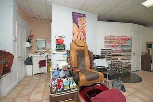 Salon and spa with Nails and stylish hair