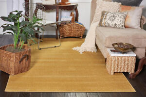 NEW Unique Loom Large Gold Area Rug - 8'x10' - $440 Retail