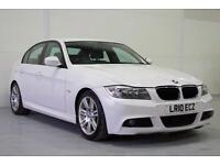 2010 BMW 320D M SPORT IN WHITE, £184 MONTHLY