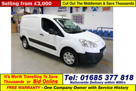 2013 - 63 - PEUGEOT PARTNER 850 1.6HDI VAN (GUIDE PRICE)