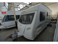 2010 Lunar Quasar 524 4 Berth Touring Caravan with Side Dinette