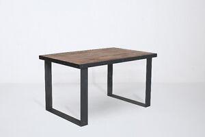Table à manger   Bois de grange   Style industriel Patte d'acier