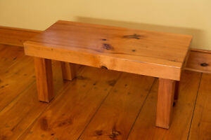 Handmade solid white pine coffee table