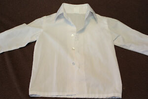 2T white collared button up shirt $3