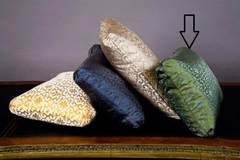 NWT Ann Gish Byzantine Jade Island 100% SILK 20″ x 14″ Decorative Pillow Sham Bedding